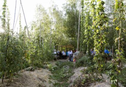 Inauguration de la houblonnière de Mategnin